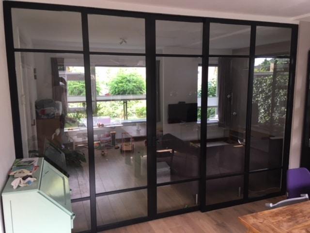 Betere Binnenkozijnen met deuren industrieel zwart accoya hout TJ-49